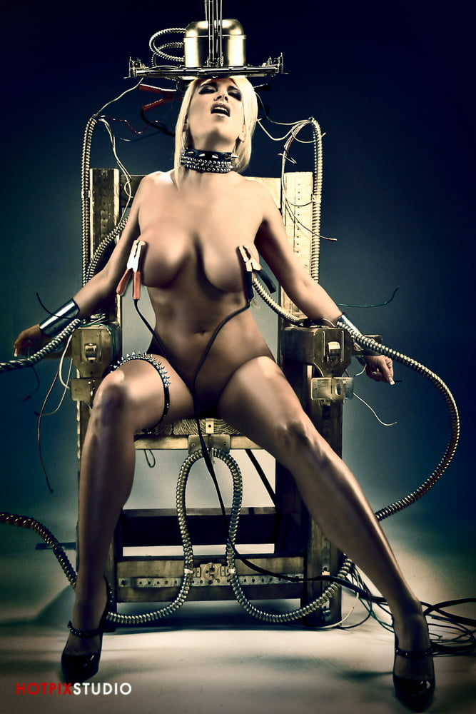 Bdsm mistress uses electric shock and strapon on her slave