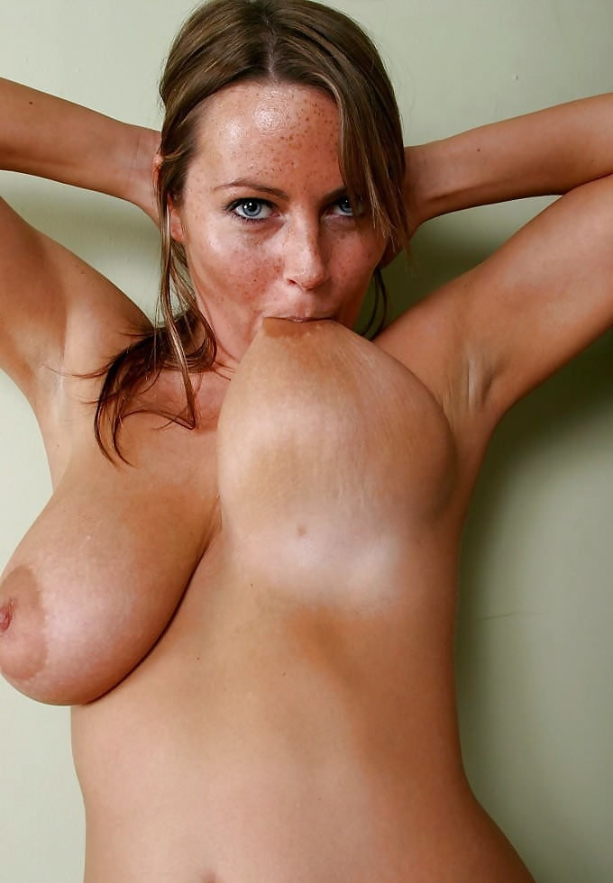 Women sucking there own tits-5338