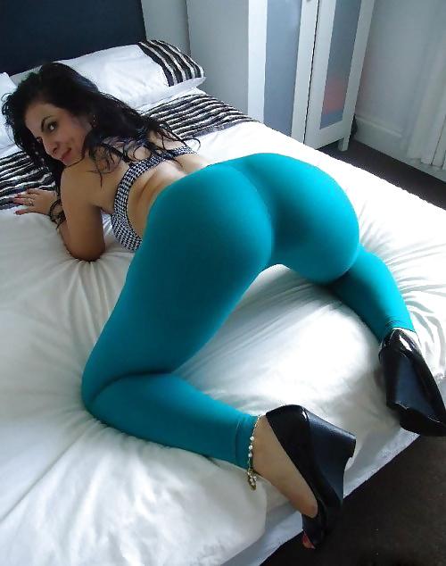 Woman leggings ass photos