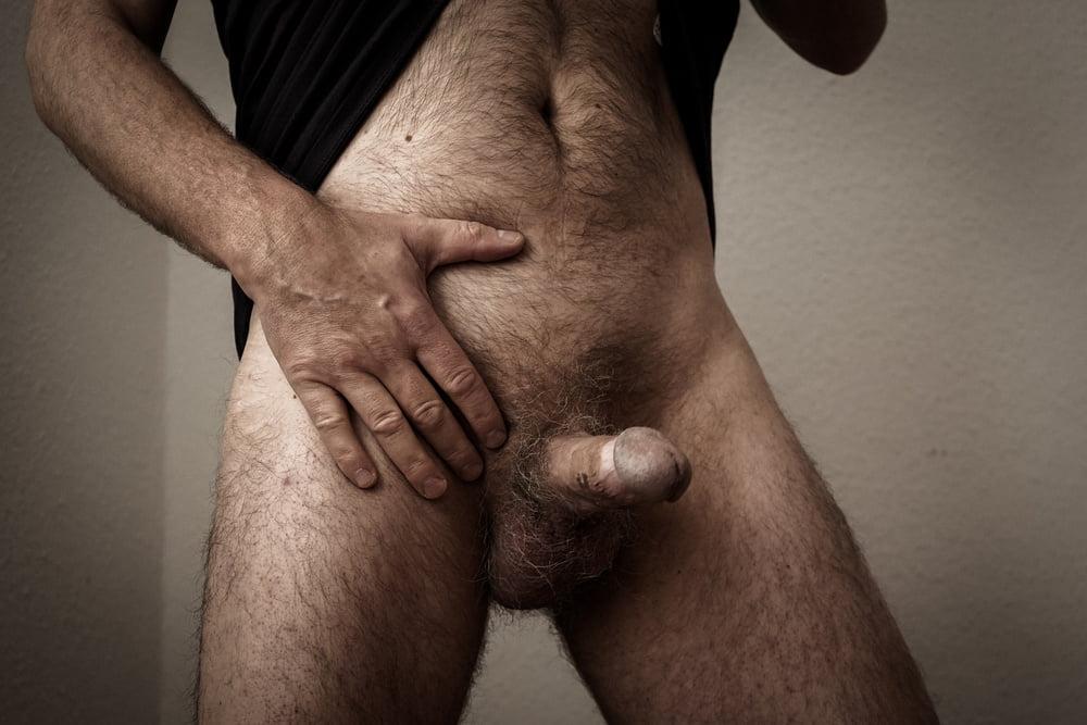 Men's hairy dick