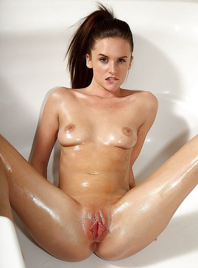 Wet Naked Teen Brunette In The Shower