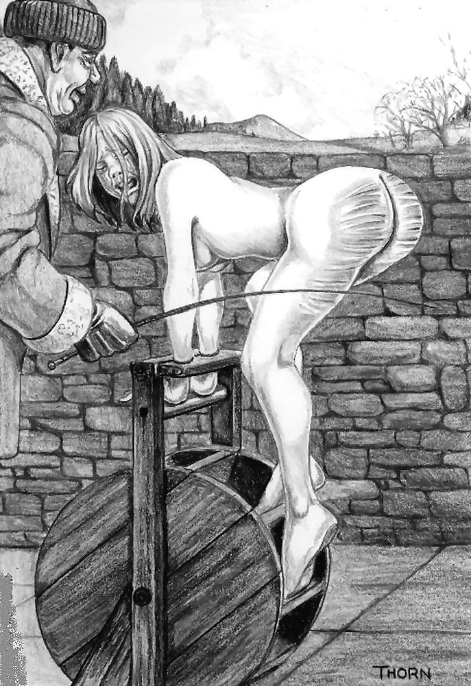 Bare ass spanking porn comics