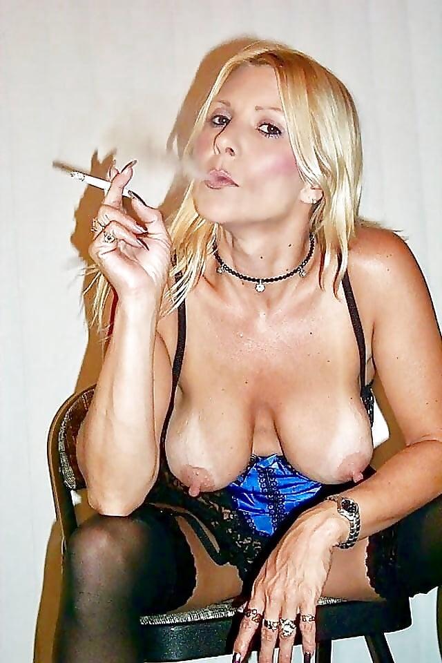 Smoking naked wife #9