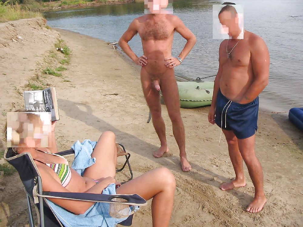 Naked men caught with boners