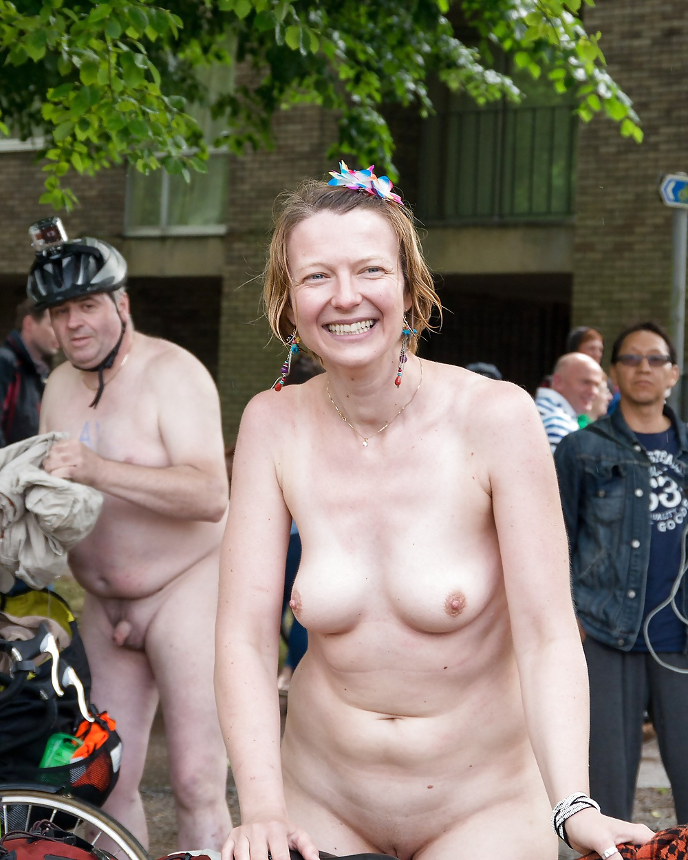 Busty uk public nudity