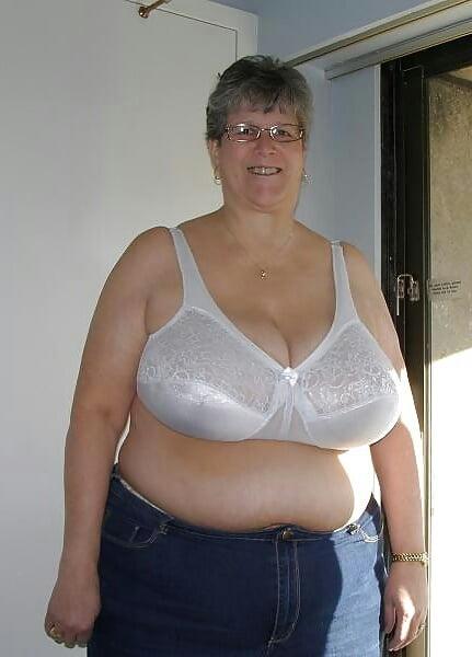 Granny in bra