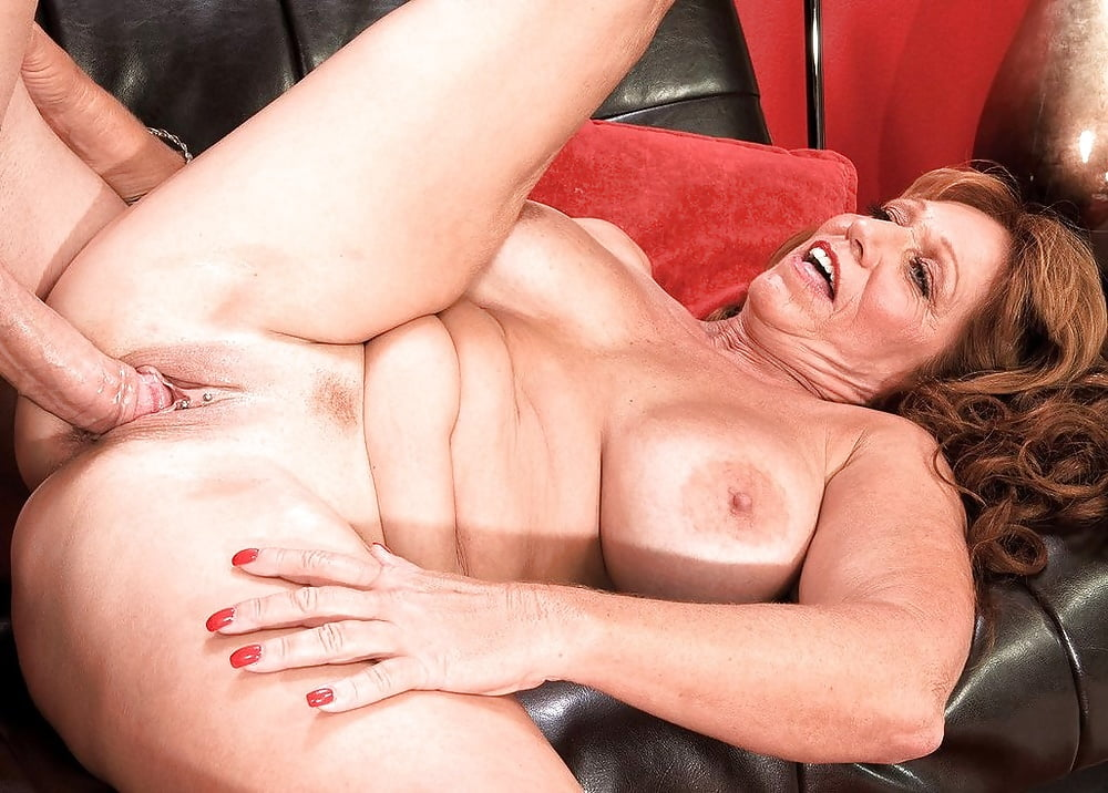 Brunette Fifty Plus Milf Raven Flight Exposing Giant Knockers While Seducing Younger Man