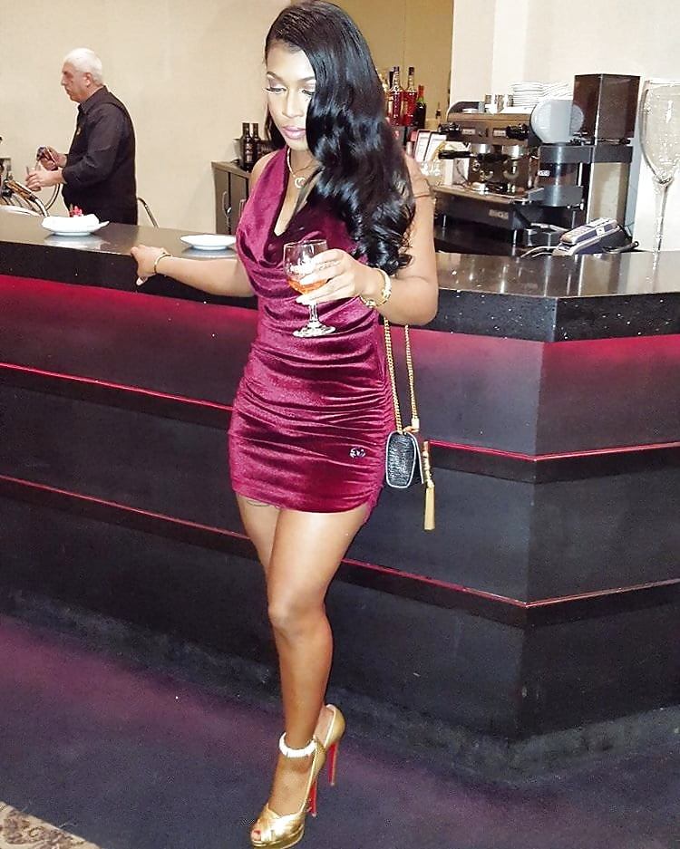 Sexy black club dress-1250