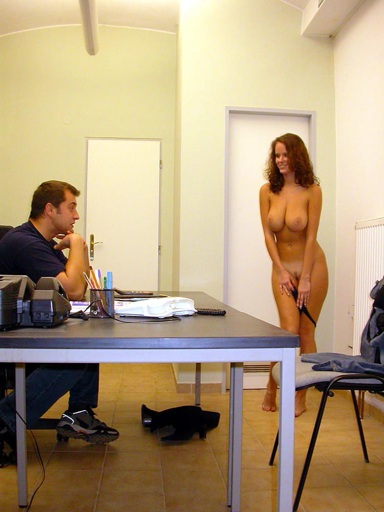 Girls stripping nude in office gigantic dildo anal