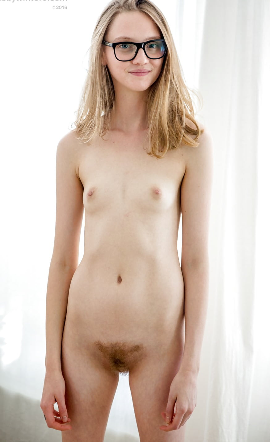 Thin nude models with glasses #1
