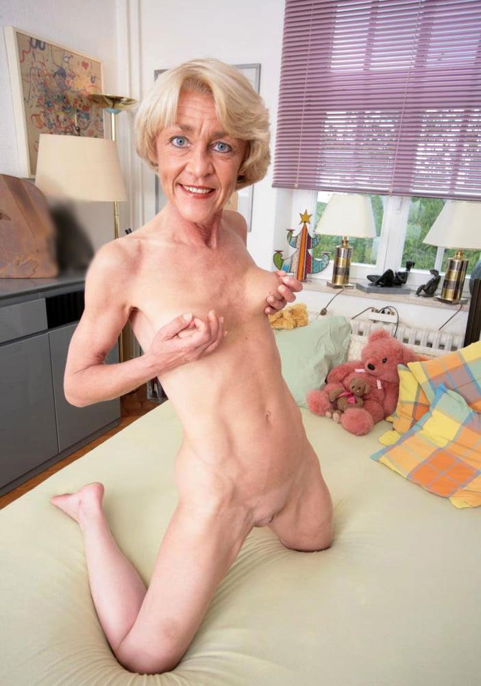 Ugly skinny granny nude