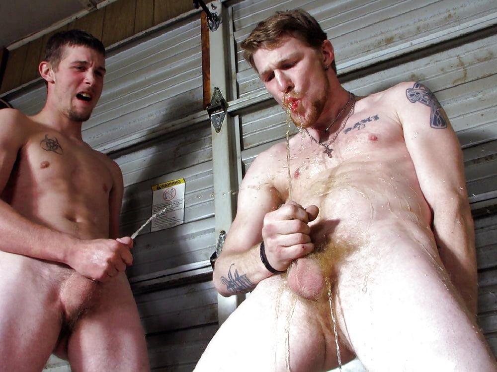 Hot nude men pissing, full gay clip