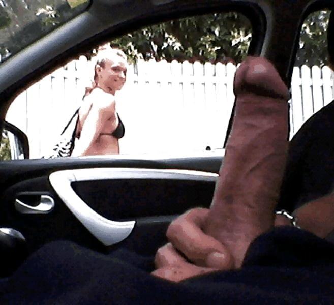 Sexy Babe Car Handjob