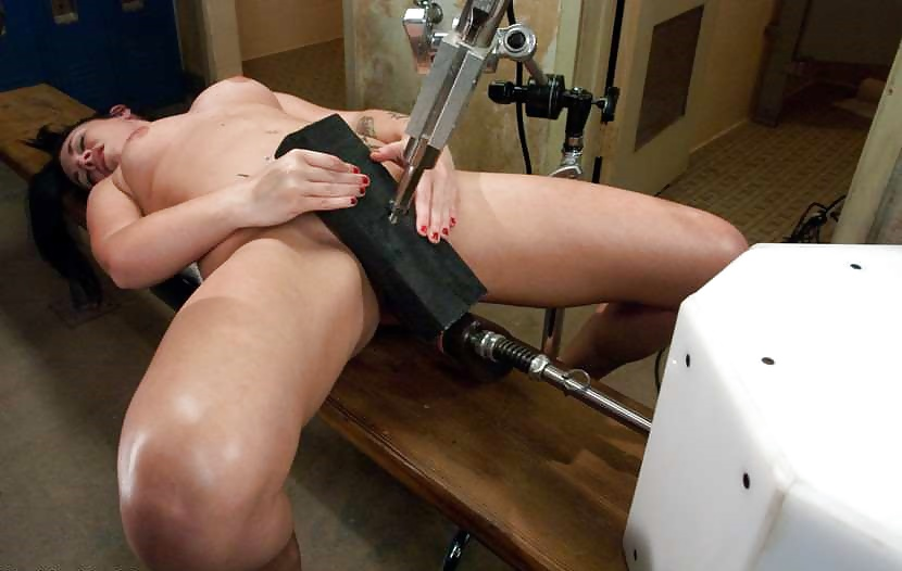 Anal sex with fucking machine for blonde girl in lingerie tmb