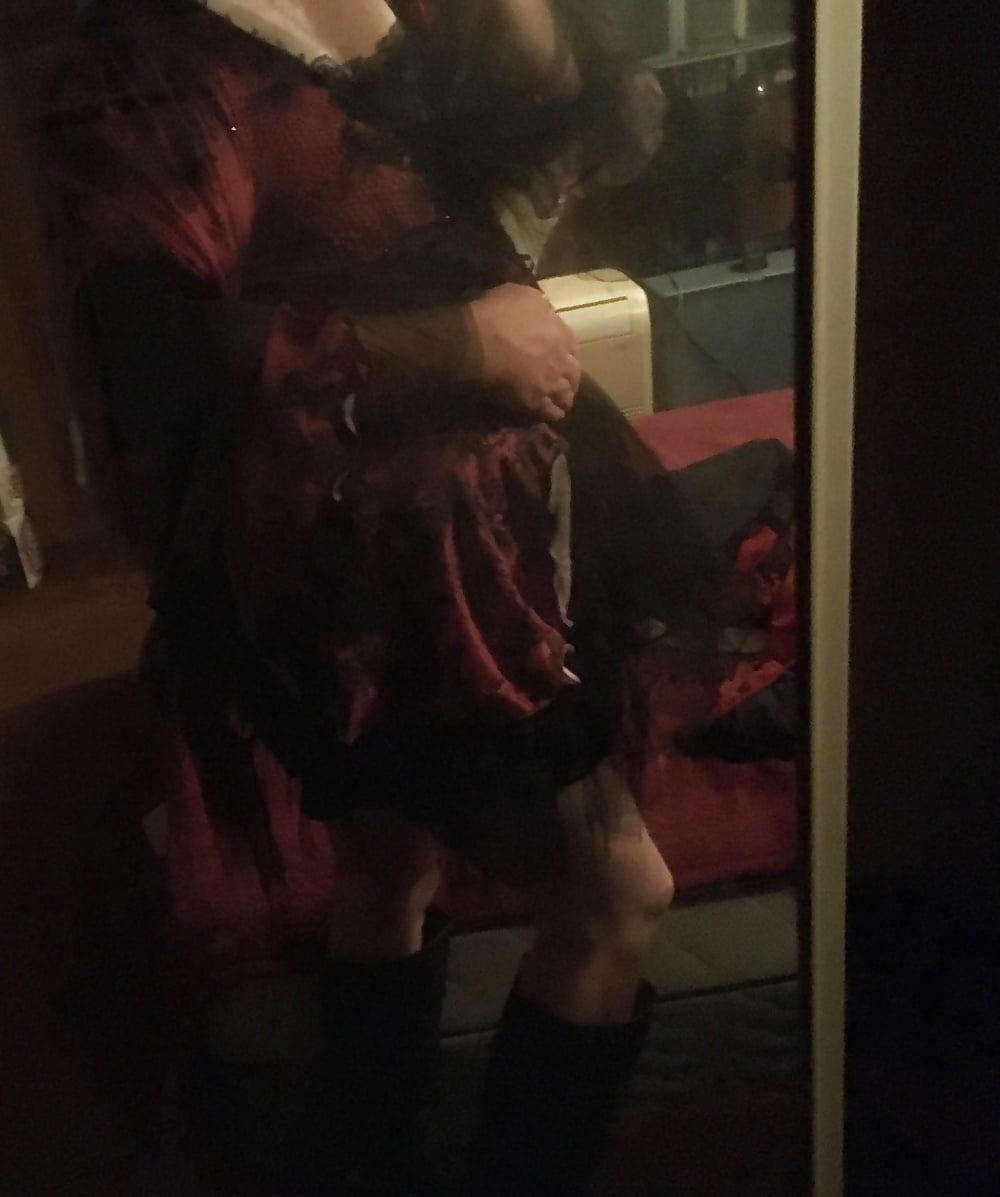 Plus size purple witch costume-6597