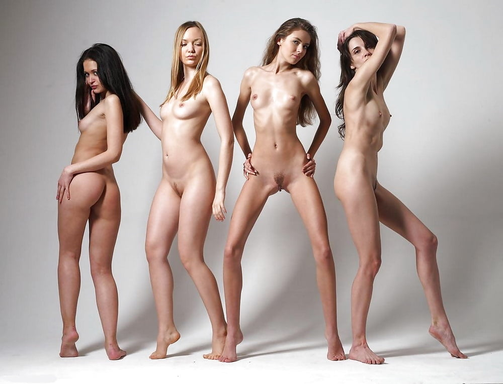 Images of only female naked models, interracial double pennatration