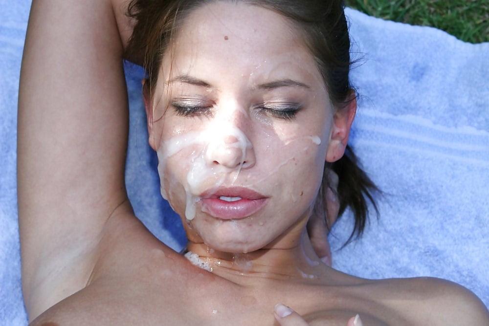 Девушки порно фото девушек со спермой на лице и голове онлайн