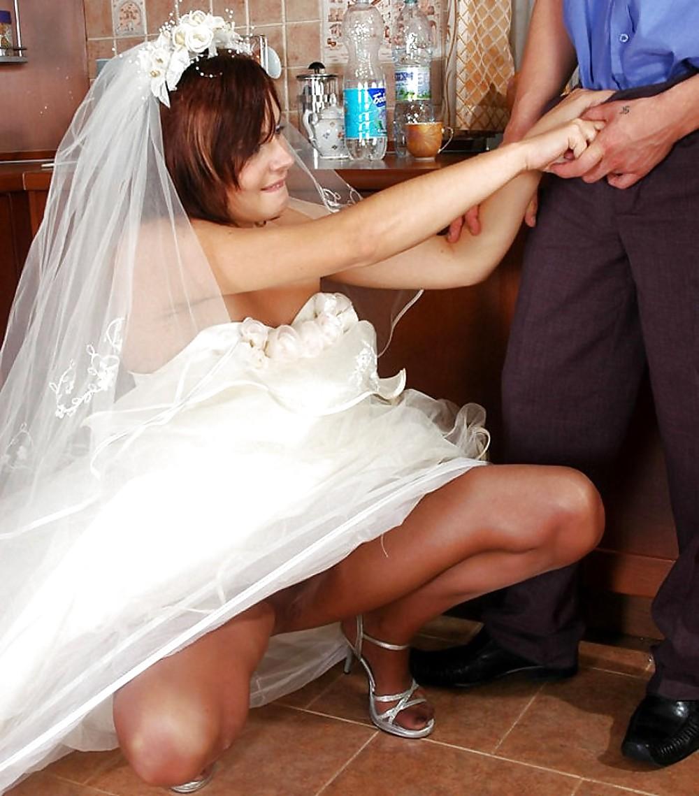 Мужик залез невесте под платье