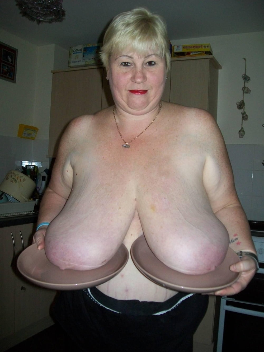 Young old women with big sagging breasts full