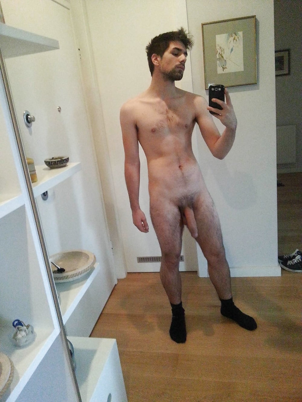 Surprised naked guys