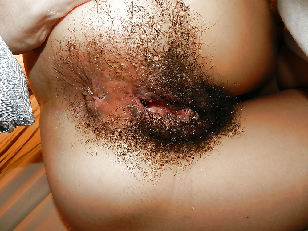 Лохматая женская задница #5