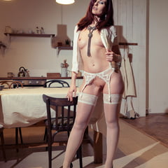 White Stockings Maid