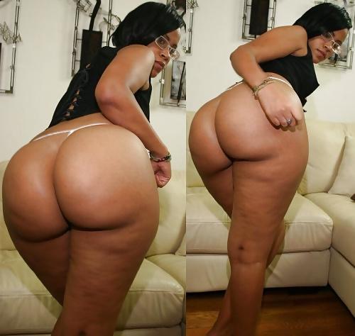 Ebony booty in panties-8512