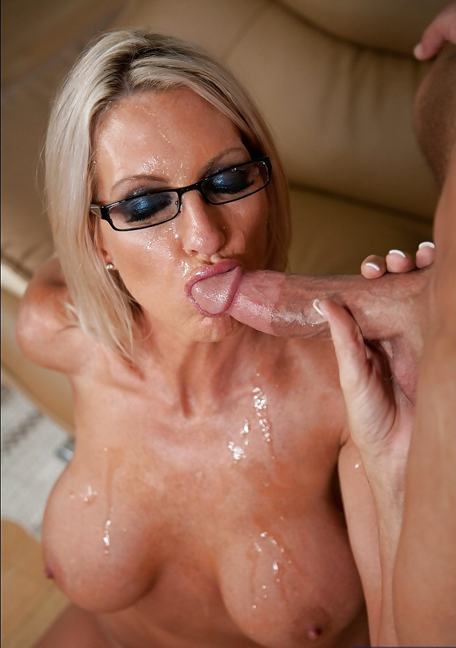 Horny milf helena price gets her face full of cum