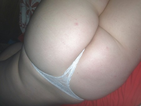 Spring is here, White Lacey thong