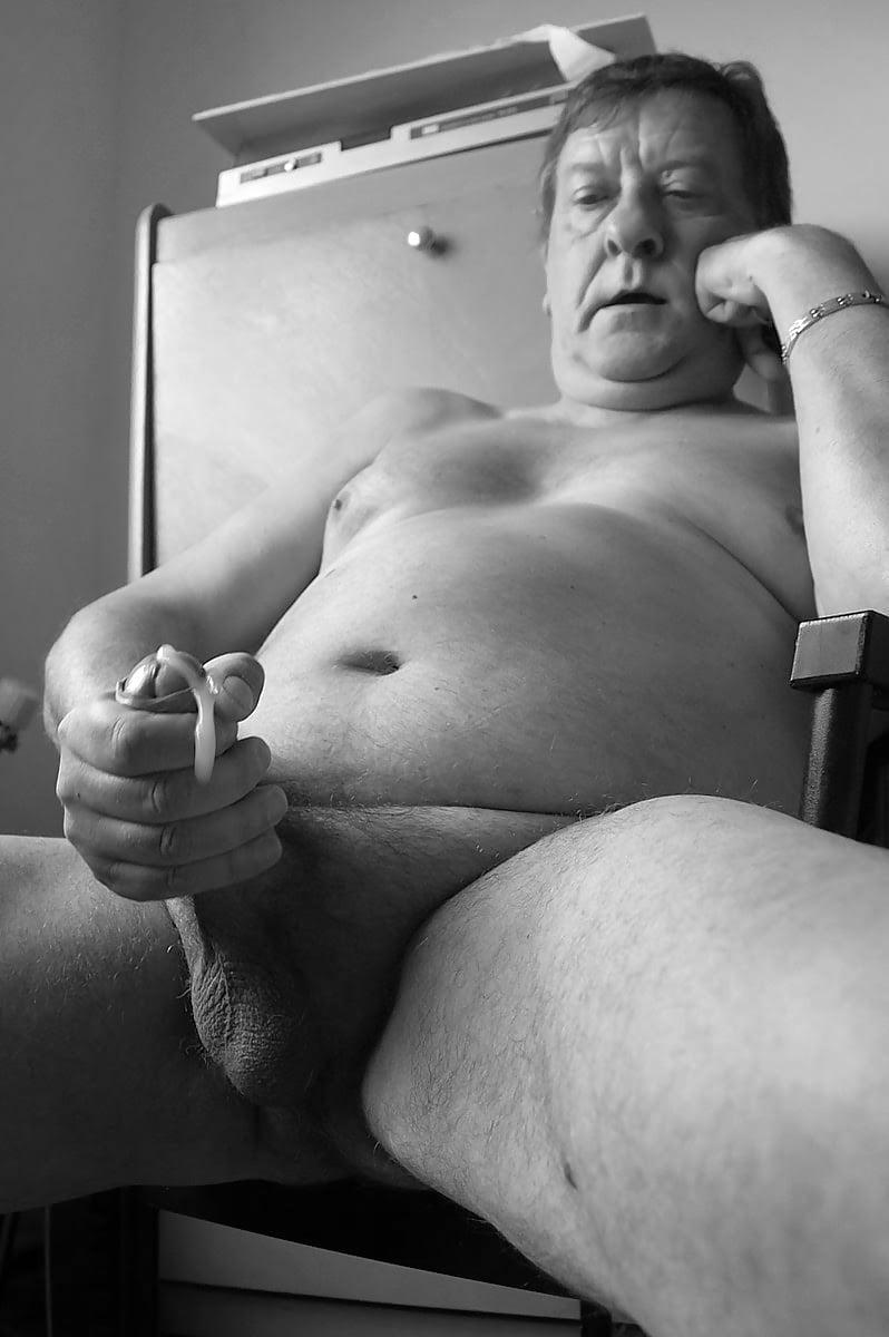 Big fat older man naked