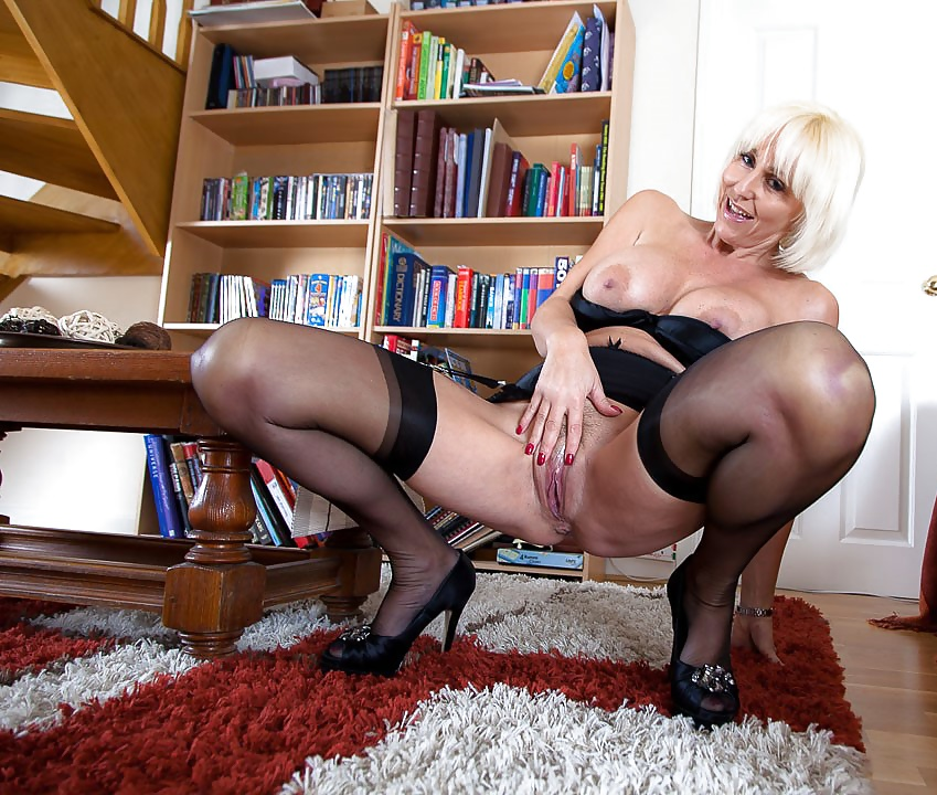 Pantyhose lady sonia as naughty teacher in black pantyhose porn pic xxx