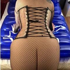 Latex Masturbation On Inflatable Bed