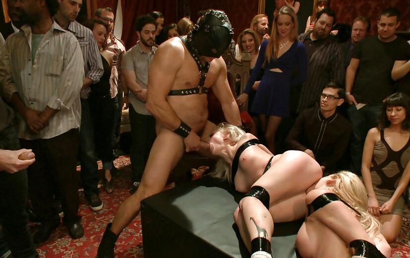 Lesbian public orgy