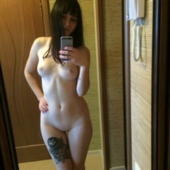Teasing Naked With My New Thigh Tattoo