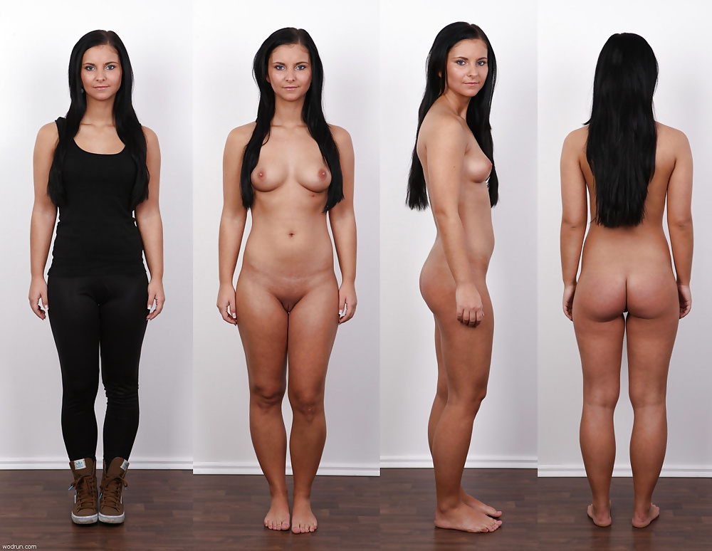 Nude female clothed male