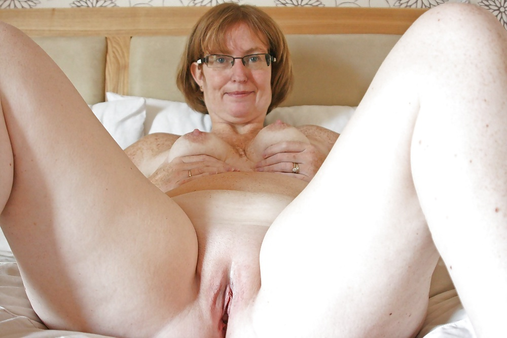 Ball old grannys shaved pussy tight