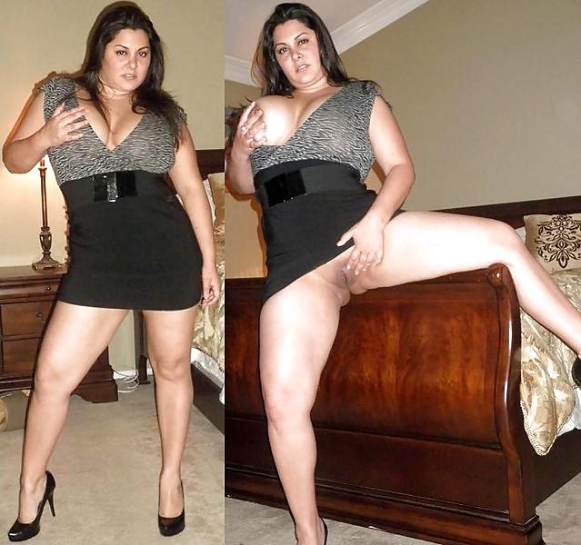Milf dressed undressed