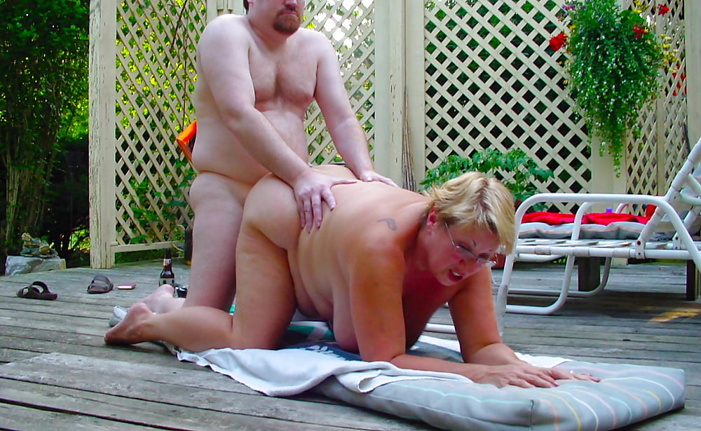 Mature wife naked outdoors