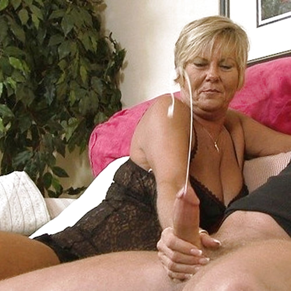 Older women giving wet handjobs