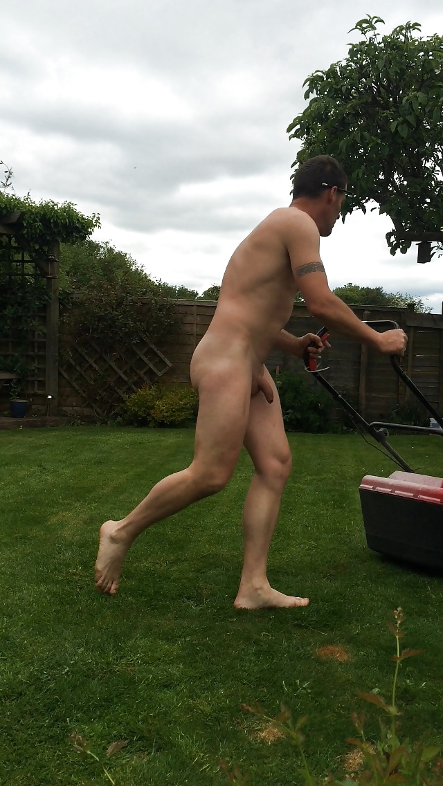 Nude Mowing Lawn Nude Pic