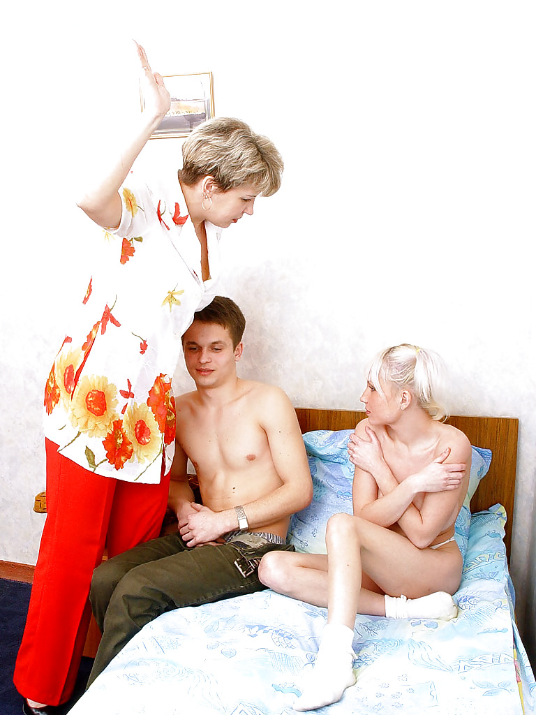 Mom caught son and daughter sex