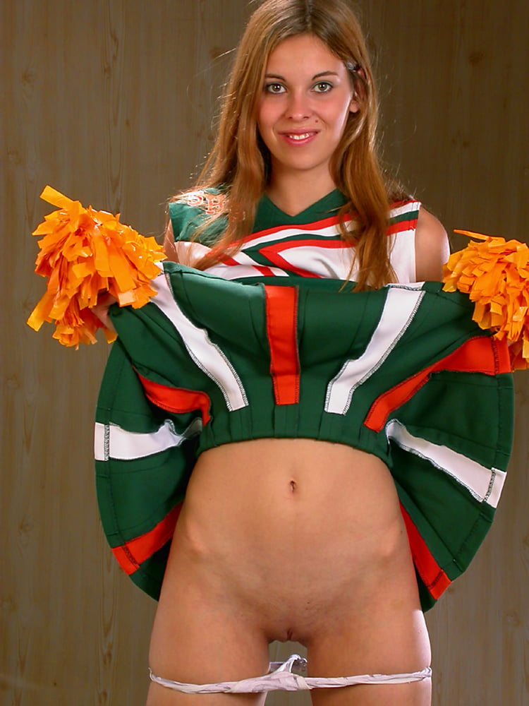 Cute Barely Legal Cheerleader Getting Naked Outdoors