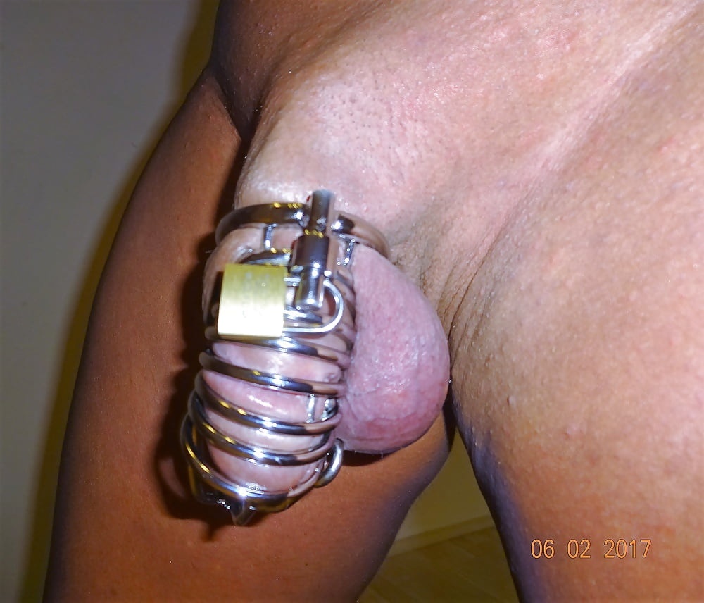 Acrylic cock and ball torture