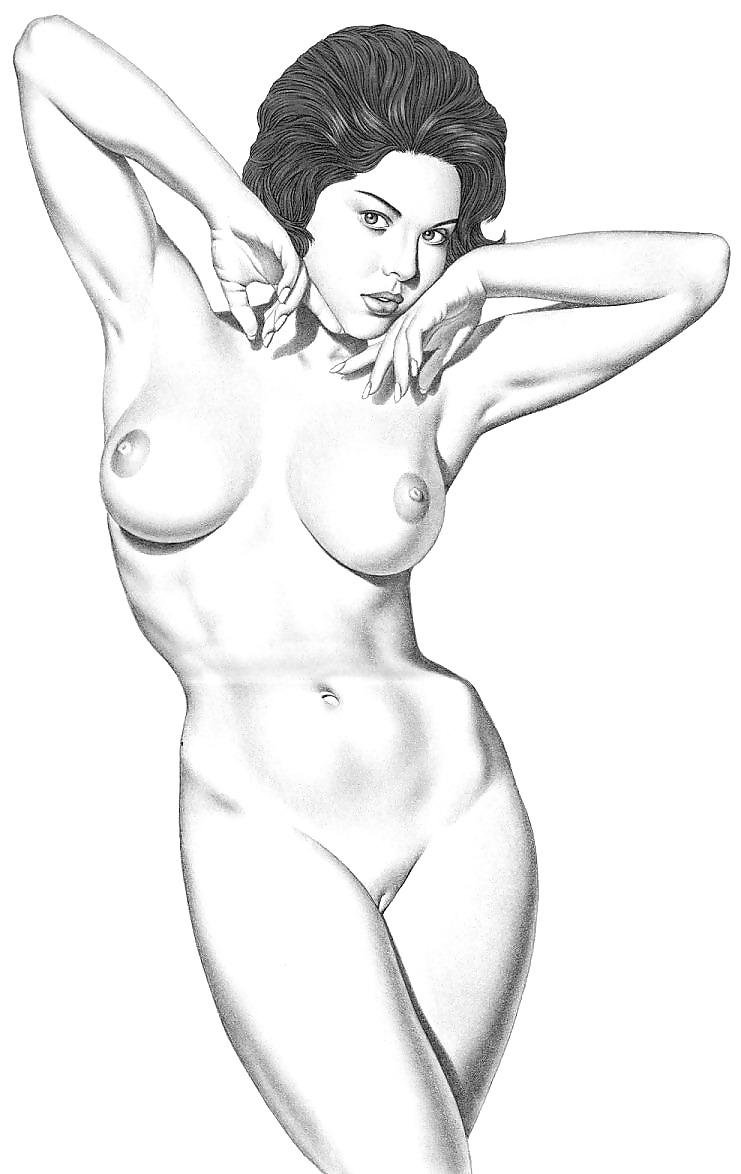 голые девушки карандашом сыну колготках