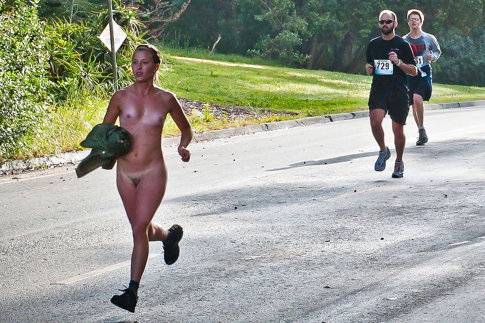 Naked girl joggers