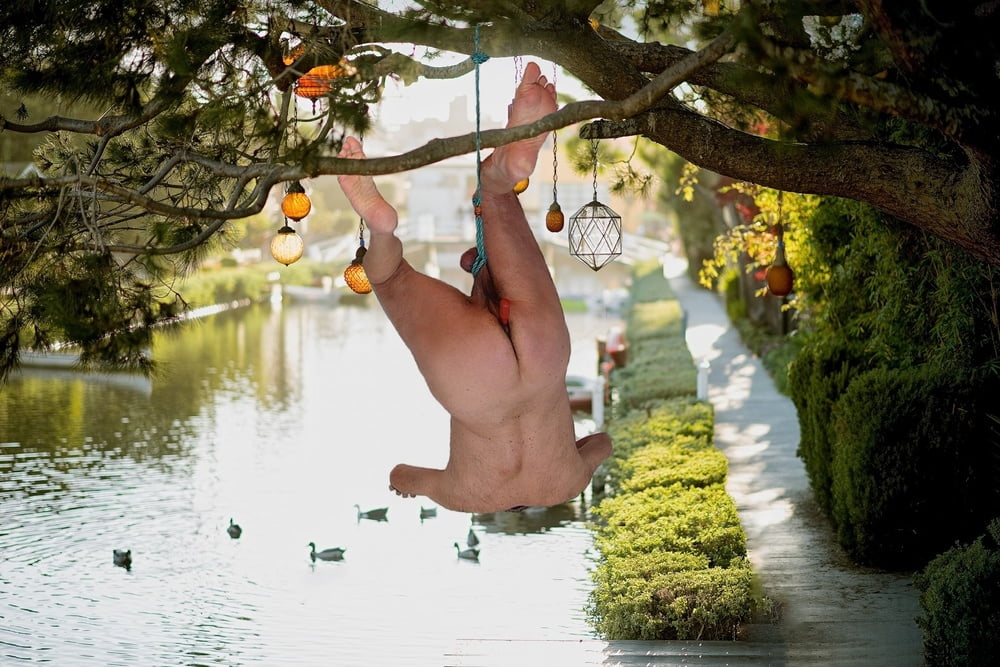 Stretching ball, hanged by balls - 13 Pics
