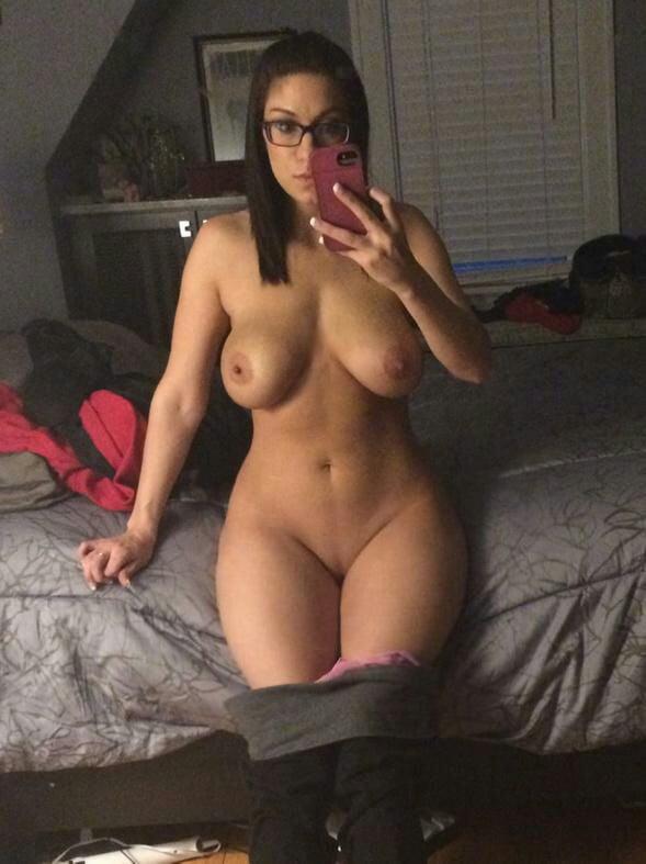 Naked girls wearing glasses