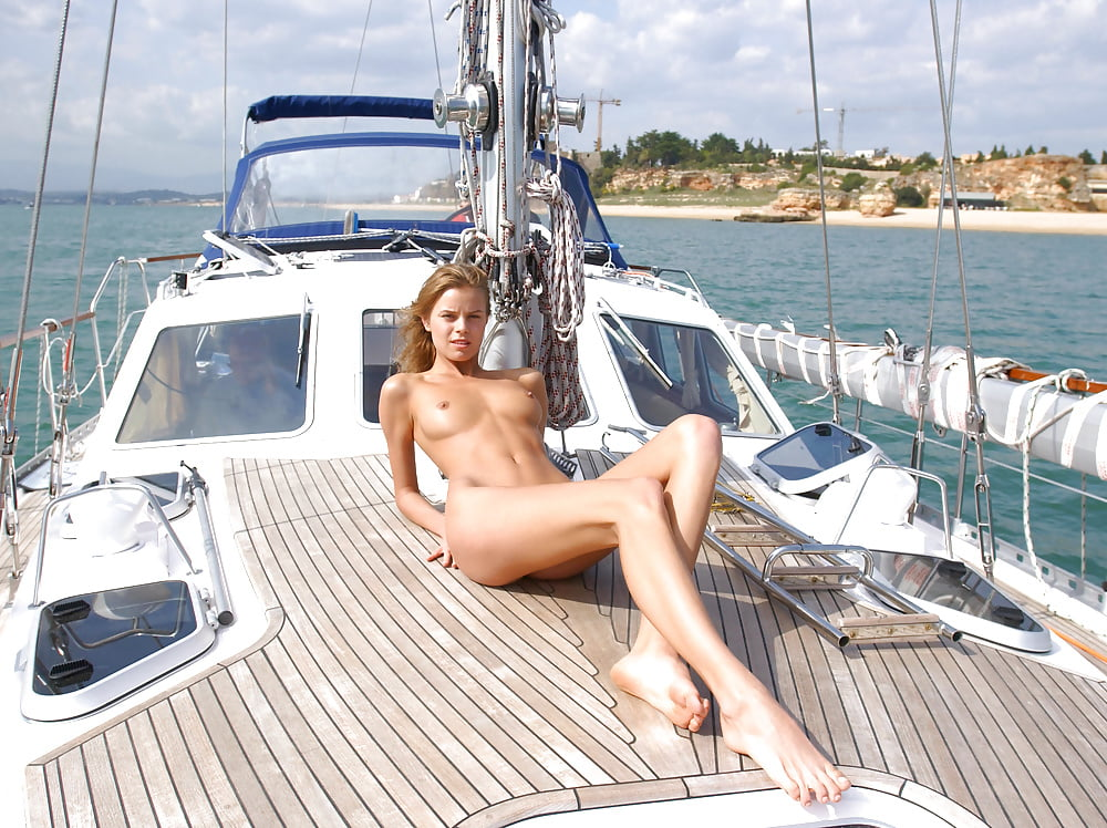 Girls nude sunbathing on boat sexy spa