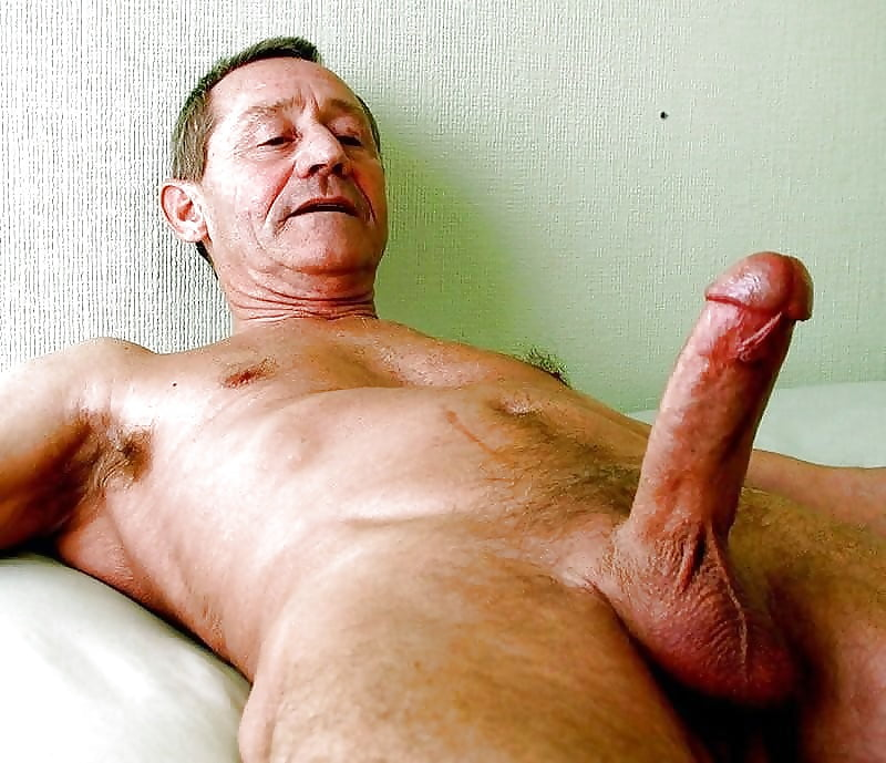 Old man with mustache masturbation