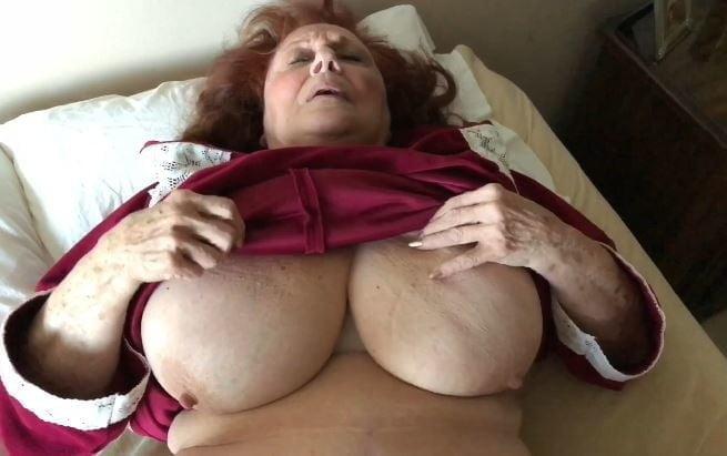 tits her Grandma shows
